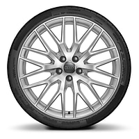 Audi Sport forged alloy wheels, 10-Y- spoke style, 9J x 20 with 255/30 R20 tires