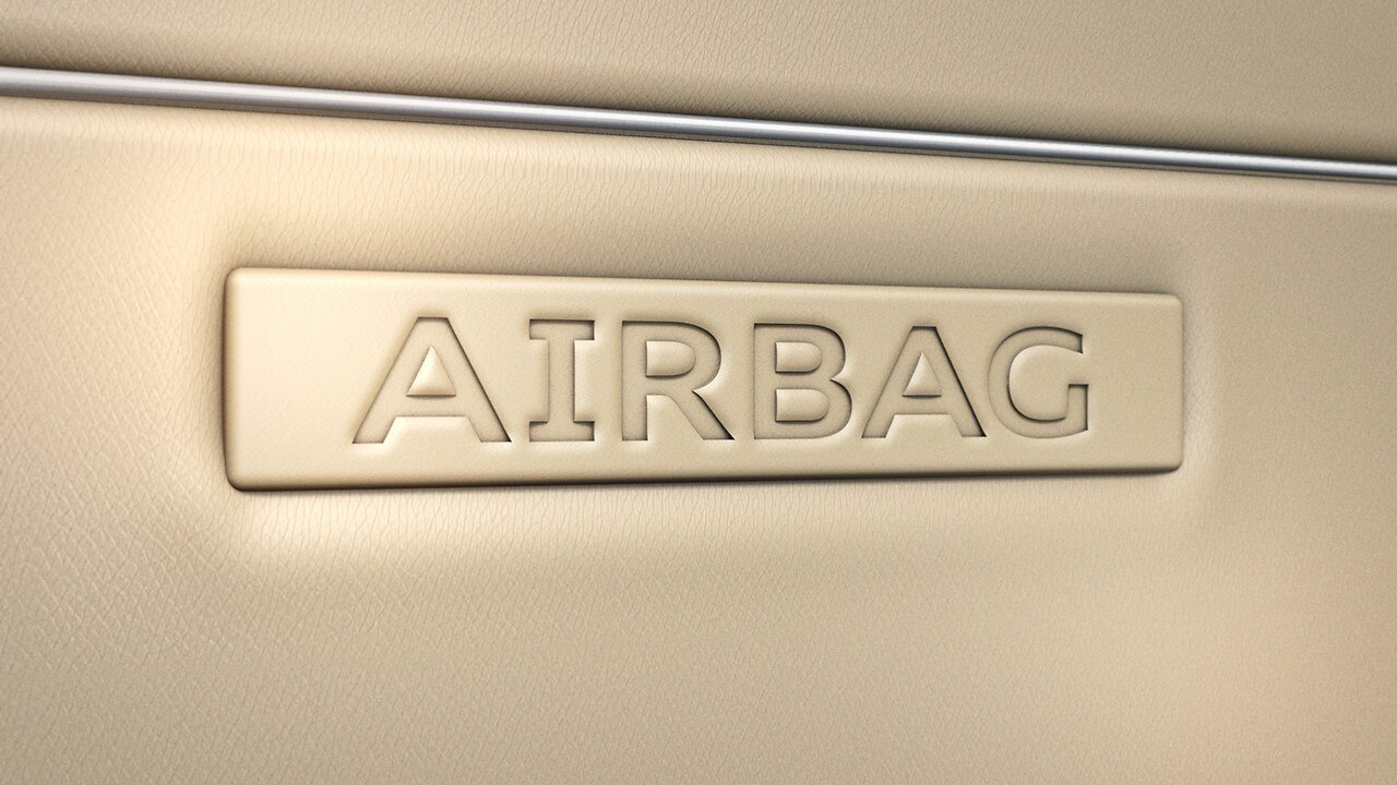 Side airbags at front and head airbag system