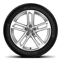 "18"" x 8.5J '5-twin-spoke Dynamic' design alloy wheels with 245/40 R18 tyres"