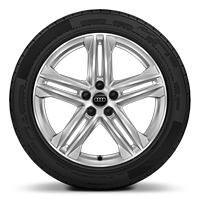 "19"" x 8.0J '5-twin-spoke star' design, diamond cut finish alloy wheels with 235/55 R19 tyres"