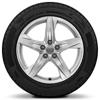 Cast alloy wheels, 5-arm star style, 8J x 18 with 235/60 R18 tires