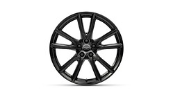 Cast aluminium winter wheel in 10-spoke vox design, black, 8 J x 20