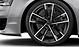 Легкосплавные диски Audi Sport, дизайн «5 двойных рукавов», чёрные Anthracite, c полированной обводкой, размер 9J x 21