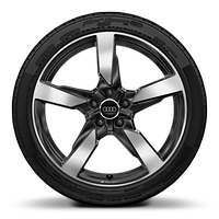 19x9J 5-arm polygon anth black