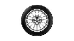 Compleet winterwiel in 15-spaaks design, briljantzilver, 7,5Jx17, 225/50 R17 98H XL