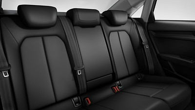 Split-folding rear seat backrest