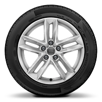 "17"" x 7.5J '5-parallel-spoke' design alloy wheels with 225/50 R17 tyres"
