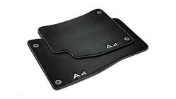 Premium textile floor mats, for the rear, black/steel-grey