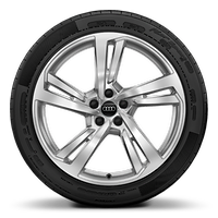 "20"" x 8.5J '5-twin-spoke' design aluminium alloy wheels with 255/40 R20 tyres"