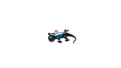 Air freshener gecko, Italien version, black, spicy