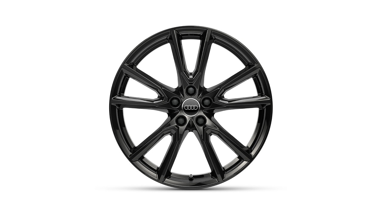 Cast aluminium winter wheel in 10-spoke-Vox design, black, 8 J x 20