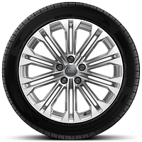 Cast alloy wheels, 10-parallel-spoke style, 8.5J x 18