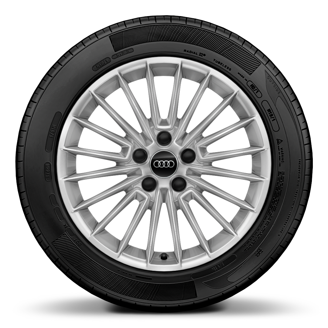 "17"" x 8.0J 'multi spoke style' alloy wheel with 225/45 R17 tyres"