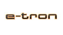 Schriftzug e-tron in Schwarz , für den Kotflügel