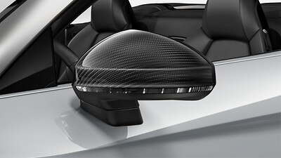 Exterior mirror housings in Glossy Carbon, Audi exclusive
