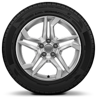 Cast aluminium alloy wheels, 5-twin-spoke dynamic design, size 8J x 18, with 235/60 R18 tyres