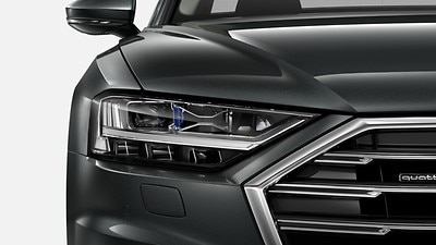 HD Matrix LED headlamps with Audi laser light and OLED rear combination lamps