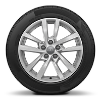 Alloy wheels, 5-double-spoke style, 7.5J x 17 with 225/45 R17 tires