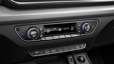 Three-zone automatic climate control system