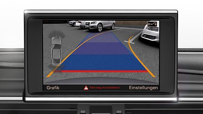 Audi parking system advanced with corner-view camera