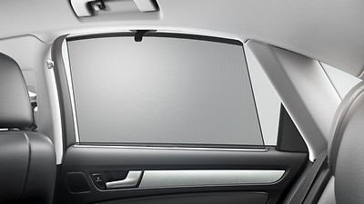 Retractable sunshades for rear windows