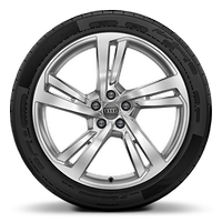 Alloy wheels, 5-double-spoke style (S style), 8.5J x 20, 255/40 R20 tires
