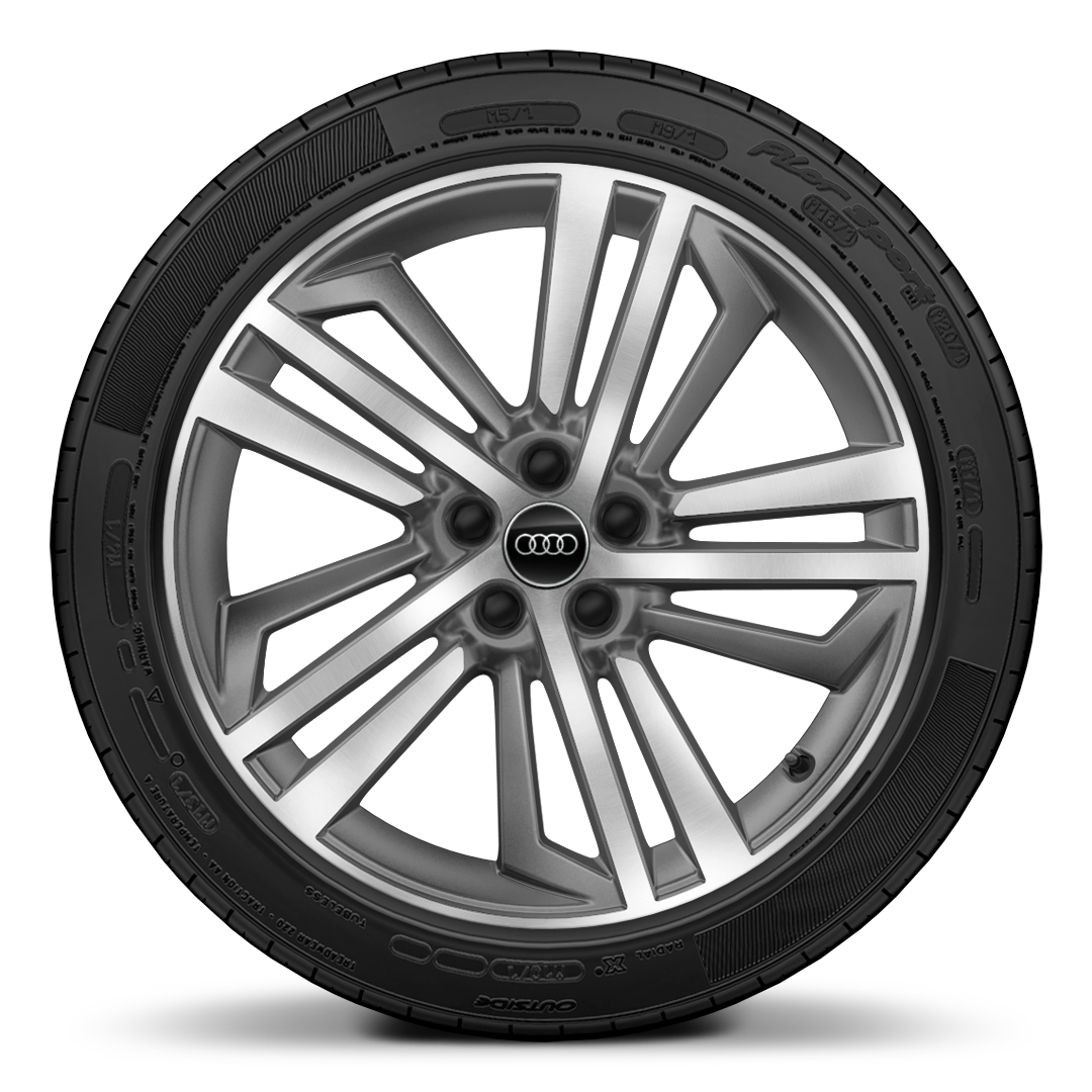 "20"" x 8.0J '5-segment-spoke' design contrasting grey, diamond cut alloy wheelswith 255/45 R20 tyres"