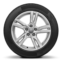 Cast alloy wheels, 5-spoke-Y style, 7.5J x 17 with 225/45 R17 tires