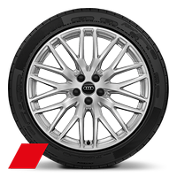 Alloy wheels, 10-spoke Y-style, 8.0J x 20, 255/45 R20 tires, Audi Sport GmbH