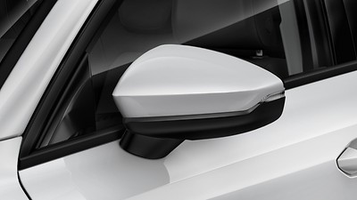 Body coloured exterior mirrors