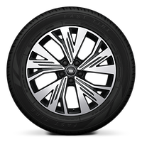 "19"" 5-W-spoke Aero design, graphite gray wheels"
