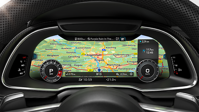 MMI® navigation plus with MMI touch
