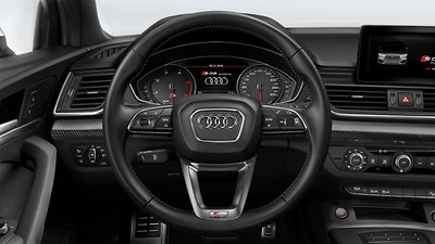 3-spoke multifunction leather steering wheel (and paddles for automatic transmissions)