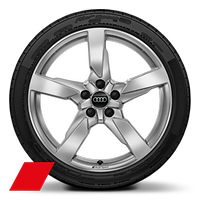 "19"" x 9J 5-arm polygon style with 245/35 R19 tyres"