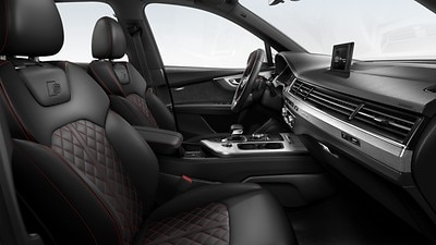Audi exclusive design : noir / rouge carmin
