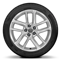 Cast alloy wheels, 5-double-spoke style (S style), 8.5J x 18, 245/40 R18 tires