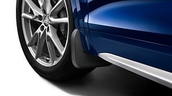 Mud flaps, for the front, for vehicles without S line exteriour package