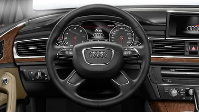 4-spoke leather-trimmed multi-function steering wheel