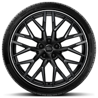 Forged alloy wheels 8.5J x 20 in front, with 11J x 20 in rear (Optional)