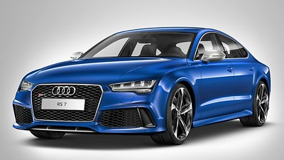 Matt aluminium-look RS6 / RS7