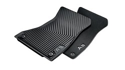 All-weather floor mats, for the rear, black