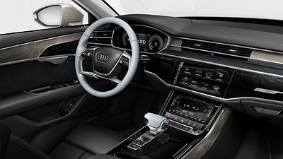 Controls in leather, Audi exclusive