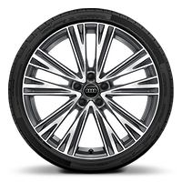 Alloy wheels, 5-spoke V-style, Graphite Gray, diamond-turned, 8.5J x 20, 255/40 R20 tires