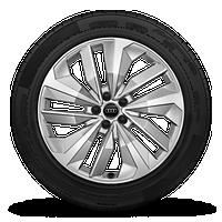 """20"""" 5-V-spoke S-design, matte aluminum wheels"""