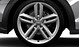 Cast aluminium alloy wheels, 5 parallel-spoke design, size 8.5J x 20, with 255/40 R 20 tyres