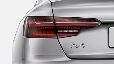 LED headlamps and LED rear combination lamps with dynamic turn signal in rear