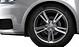 Cast aluminium alloy wheels, 5-twin-spoke star design, size 7.5J x 17, with 215/40 R 17 tyres