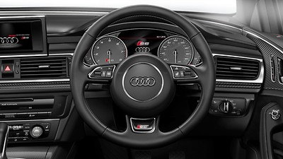 3-spoke leather multi-function Sport steering wheel – heated, with gear-shift paddles (automatic models only)