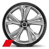 Alloy wheels, 5-V-spoke structure style, 10.5J x 22, 285/30 R22 tires