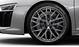 Кованые алюминиевые диски, дизайн «10 спиц Y»,  блестящие, черные, размер 8,5J x 20 спереди и 11J x 20 сзади
